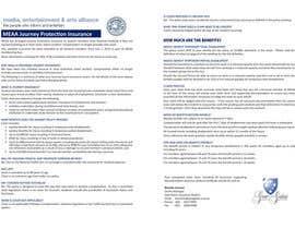 #1 untuk Design a Brochure for MEAA oleh djock18