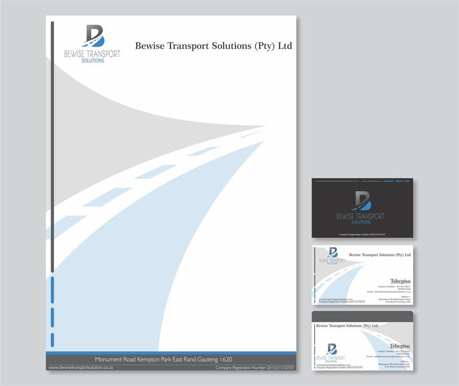 Design A Letterhead And Business Cards For Transport
