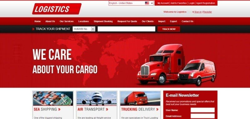build a website for delivery company courier express. Black Bedroom Furniture Sets. Home Design Ideas