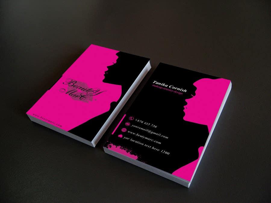 Entry #103 by Nahidrahman19 for Makeup Artist Business Card Design ...