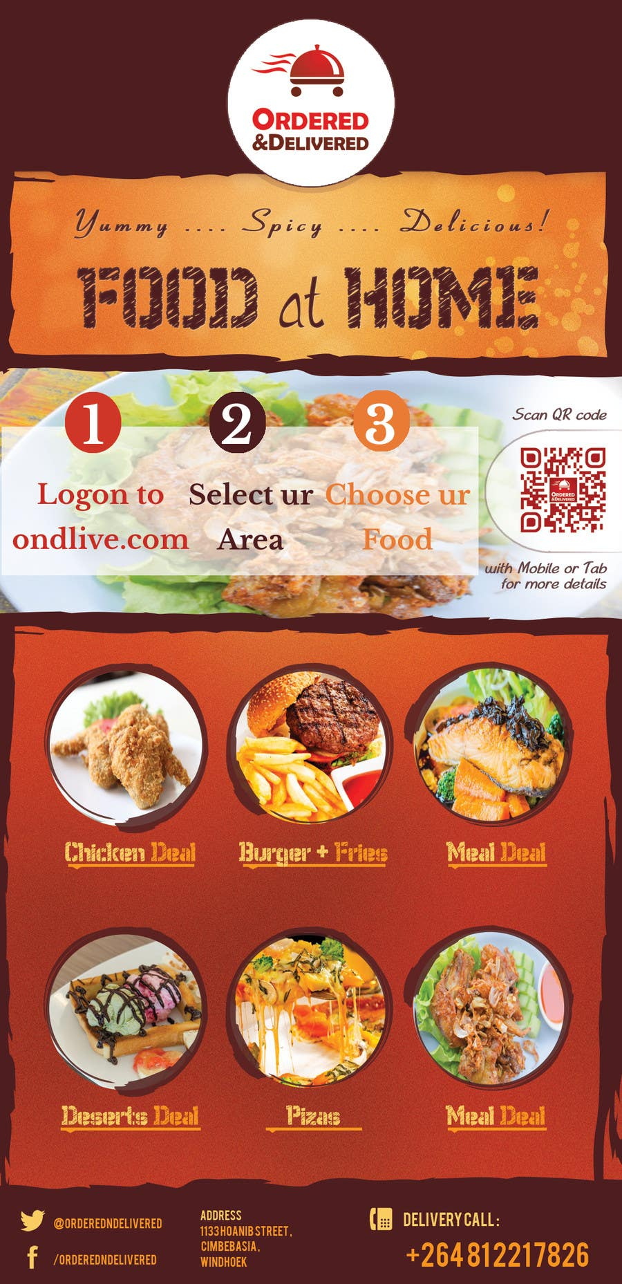 entry 21 by mach5systems for design a flyer for a new online food