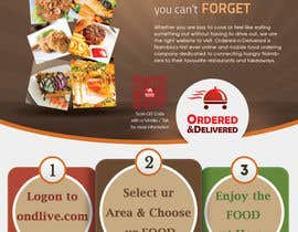 #23 untuk Design a Flyer for a new online food ordering and delivery service oleh Mach5Systems