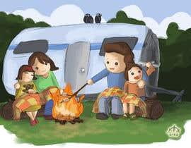 arkajyotinandi tarafından Illustrate Something for Children's Book - camping theme için no 25