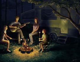 victormelnicov tarafından Illustrate Something for Children's Book - camping theme için no 28