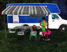 freelancerance tarafından Illustrate Something for Children's Book - camping theme için no 14