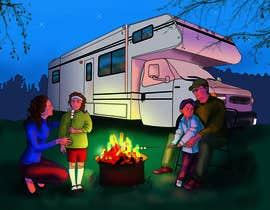 OlgaShevchenko tarafından Illustrate Something for Children's Book - camping theme için no 16