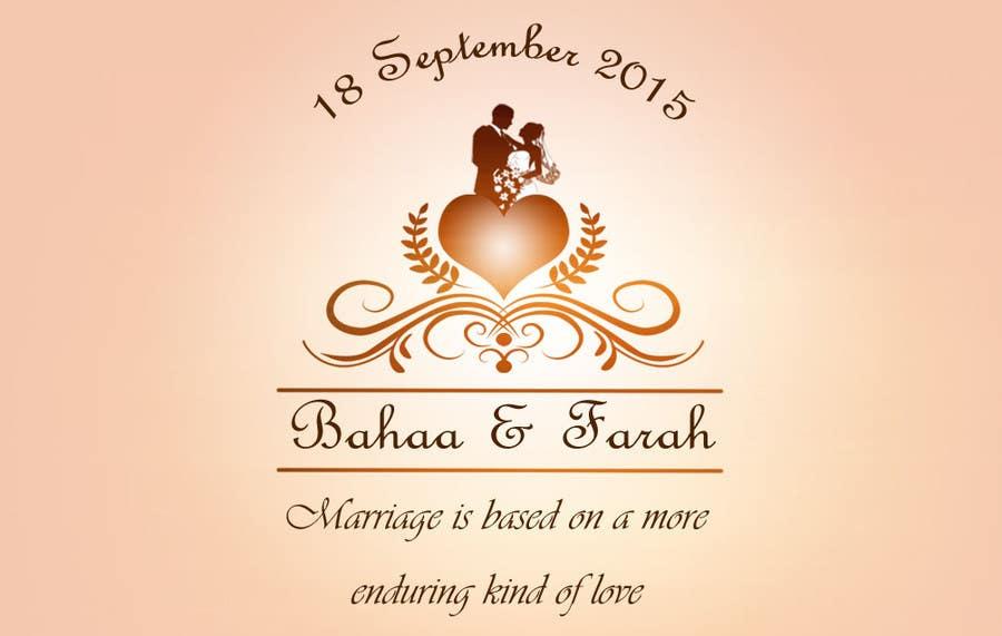 entry 23malathy27 for design a logo for wedding card