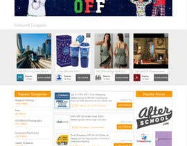#16 untuk Design a Website Mockup for a Promo/Discount Site oleh bazinga03
