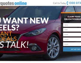 #18 untuk Design a landing page Mockup for Car Quotes Online oleh andreybalbekov
