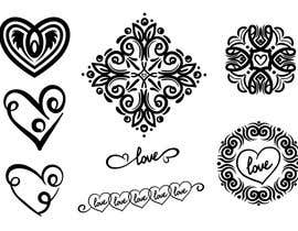 asselnor tarafından Design, illustrate or art work - Metallic temporary tattoo flash sheets Unicorns and love için no 6