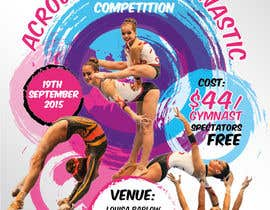 #13 untuk Design a Flyer for An Acrobatic Gymnastics Invitational Competition oleh vyncadq