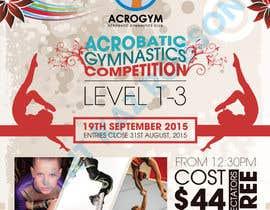 #16 untuk Design a Flyer for An Acrobatic Gymnastics Invitational Competition oleh kazrobson
