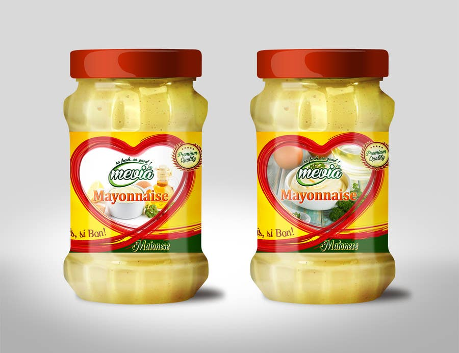 Penyertaan Peraduan #29 untuk Design a label for Mayonnaise in jars
