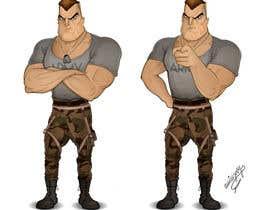 #32 untuk Create a muscular Military character/mascot. oleh missjosy