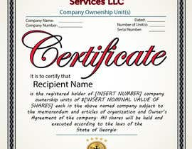 #38 untuk Design Company Ownership Certificate (Like a Corporate Shareholder Certificate) oleh Bulfire