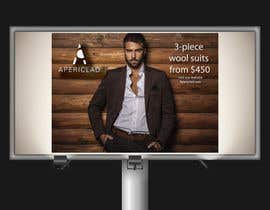 #14 untuk Design a billboard to promote a Luxury Men's Suit and Shirt brand. oleh andhan
