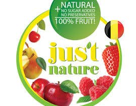 "dilpora tarafından Design a logo for our fruit juice brand: ""Nature Jus't"" için no 35"