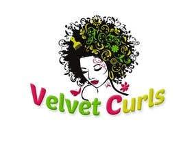#39 untuk Velvet Curls logo oleh FelipeCreativo