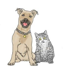 #34 untuk Cat and Dog Cartoon oleh aybber