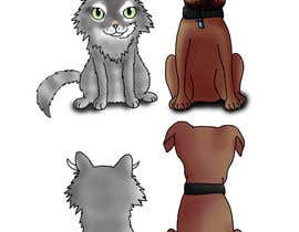 #27 untuk Cat and Dog Cartoon oleh lilatochi