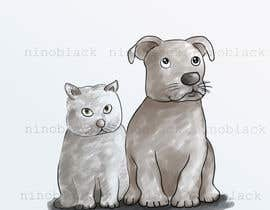 #6 untuk Cat and Dog Cartoon oleh ninoblackwhite