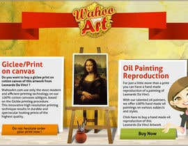 nº 9 pour Design a Banner for Selling oil paintings and Posters par chithrarahul