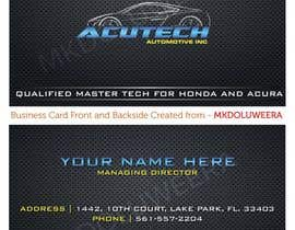 Nro 8 kilpailuun Design some Business Cards for acutech automotive inc using existing logo käyttäjältä mkdoluweera