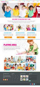 xpertsart tarafından Design a Website Mockup for Children Party & Entertainment için no 8