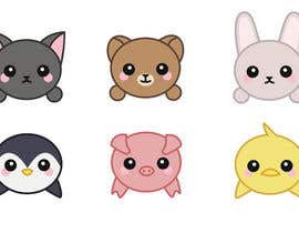 "#36 untuk Produce 12 small illustrations of ""Kawaii""-style Animals oleh ledgotto"