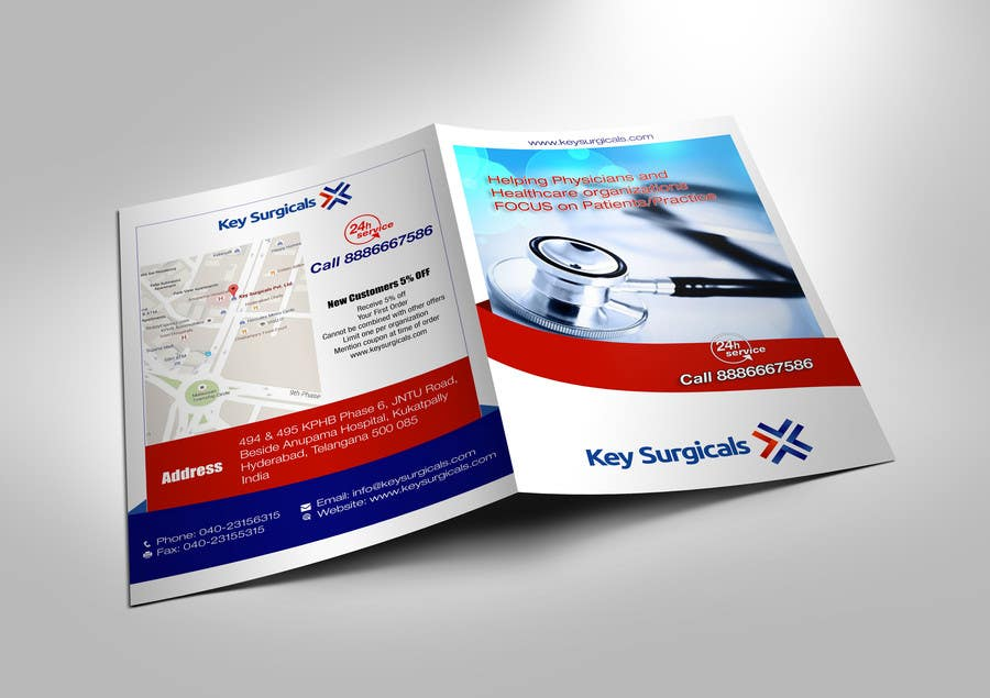 contest entry 5 for design a bi fold marketing brochure template for hospital supplies
