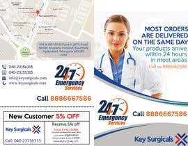 MooN5729 tarafından Design a bi-fold marketing brochure template for Hospital Supplies provider için no 18