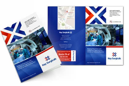 LeeniDesigns tarafından Design a bi-fold marketing brochure template for Hospital Supplies provider için no 1