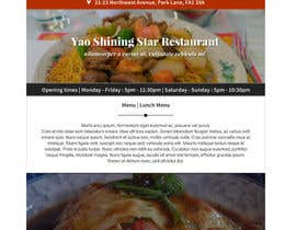 #14 untuk Design a Website Mockup for a  Chinese restaurant oleh vw8176980vw