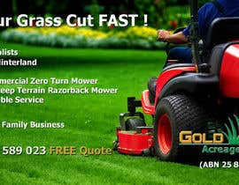 #9 untuk Design an Advertisement for a Lawn Mowing Business oleh logexxpert