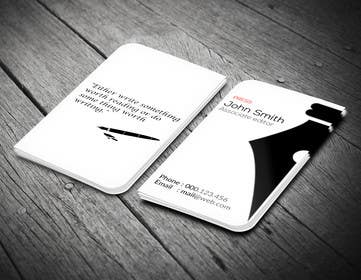 LeeniDesigns tarafından Design a Business Card for a Professional Writer. için no 36