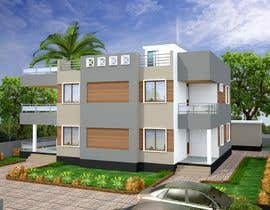 #45 untuk Redesign my house and render with a modern flat roof with parapet wall oleh archmamun