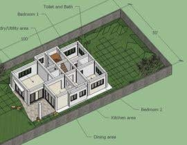 #7 untuk Redesign my house and render with a modern flat roof with parapet wall oleh tespimentel
