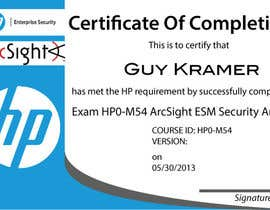 #24 untuk I need a certificate designing for an exam - EASY oleh LucianCreative