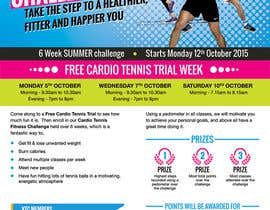 #11 for Design a Flyer for Cardio Tennis by dsquarestudio