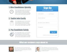 #38 for Recruitment website home page design af jeponkz