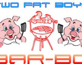 #31 untuk Design a Logo for  2 Fat Boys bbq foodtruck oleh szamnet