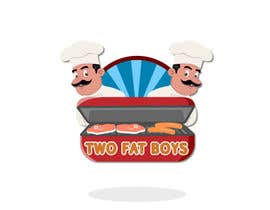 #34 untuk Design a Logo for  2 Fat Boys bbq foodtruck oleh marinza