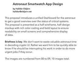 nº 202 pour NASA Challenge: Astronaut Smartwatch App Interface Design. par halldorel
