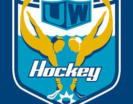 #110 para Design a logo for uw-hockey website por Brainstormed