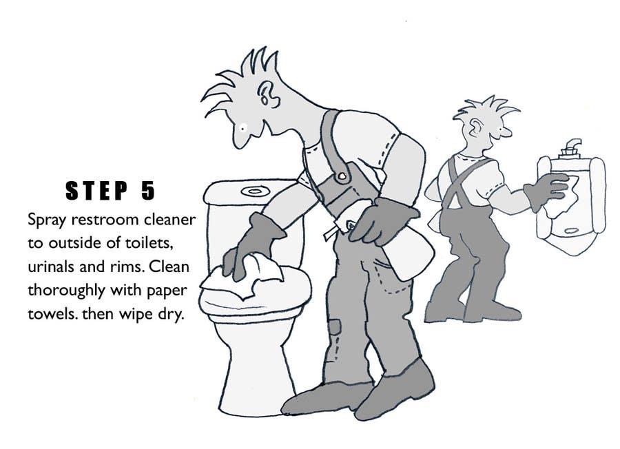 Penyertaan Peraduan #6 untuk Illustrate Something for Restroom Cleaning TRAINING manual