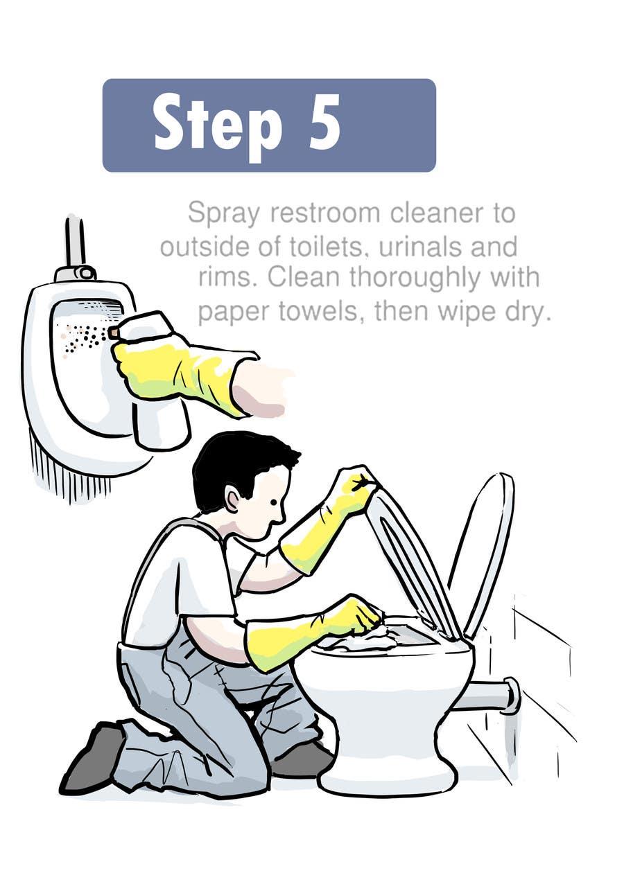 entry 8 by rockbarcellos for illustrate something for restroom rh freelancer com bd commercial cleaning training manual commercial cleaning training manual