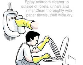 #8 untuk Illustrate Something for Restroom Cleaning TRAINING manual oleh rockbarcellos
