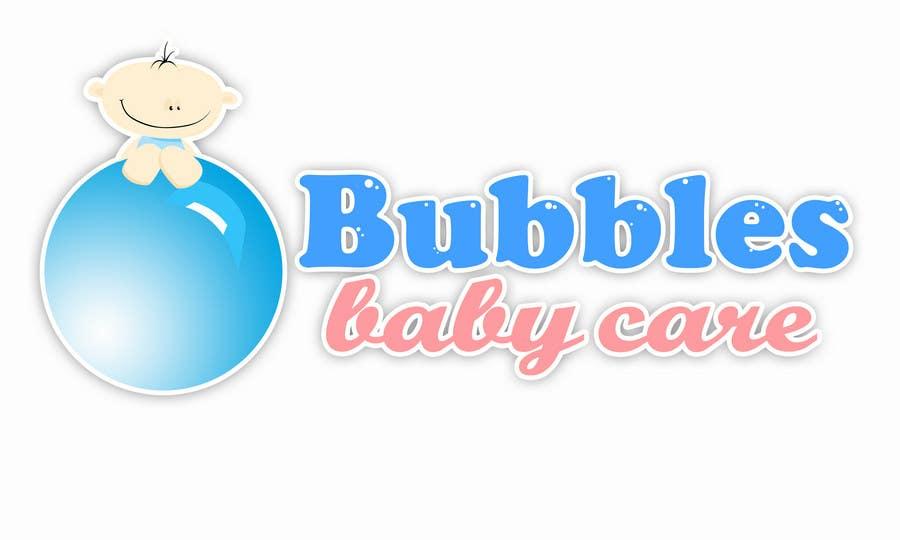 Kilpailutyö #444 kilpailussa Logo Design for brand name 'Bubbles Baby Care'