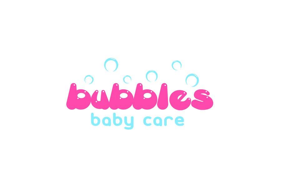 Kilpailutyö #329 kilpailussa Logo Design for brand name 'Bubbles Baby Care'