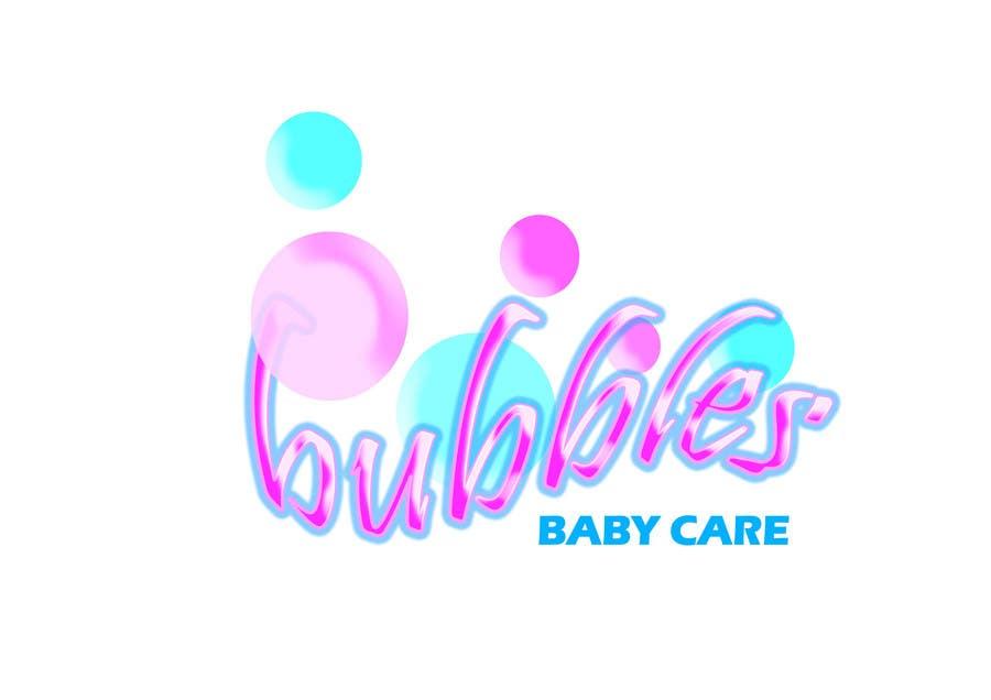 Kilpailutyö #251 kilpailussa Logo Design for brand name 'Bubbles Baby Care'